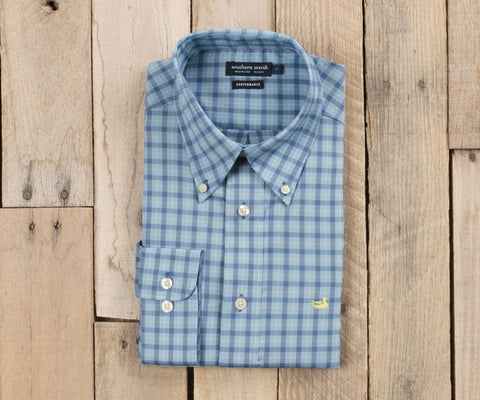 Southern Marsh - Idlewild Performance Gingham - Navy & French Blue