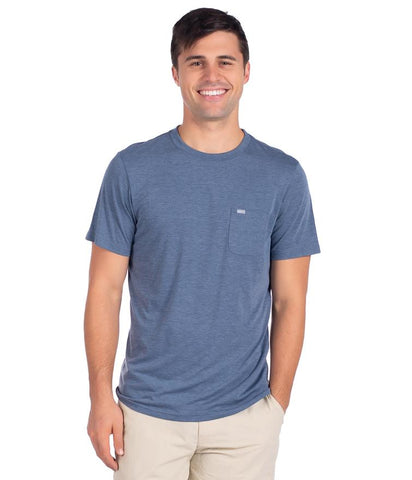 Southern Marsh - Authentic SS Tee - Washed Moss Blue