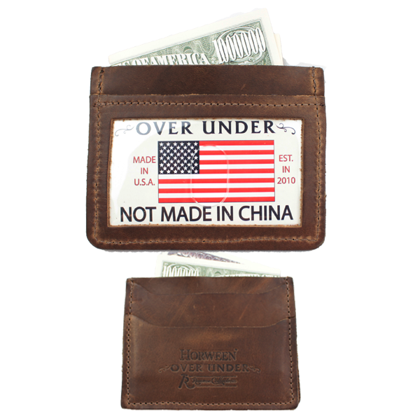 Over Under - Horween Simple Card Wallet