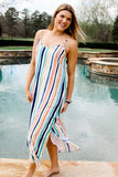 Streets Of Gold Striped Maxi Dress