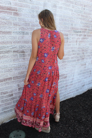 There Is Nothing Better Floral Maxi Dress