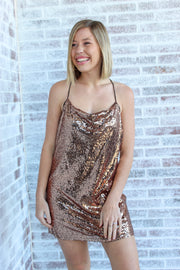 About Tonight Sequin Cami Shift Dress