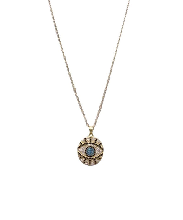 Round Protective Eye Necklace