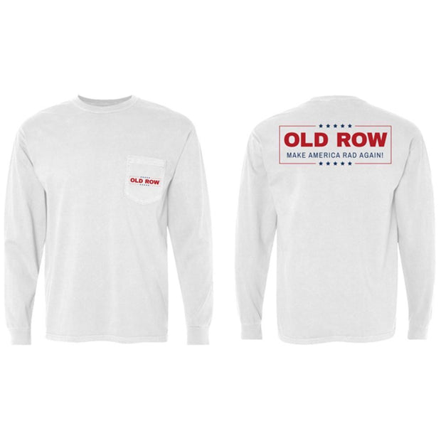 Old Row -  Make America Rad AgainLS Pocket Tee - White