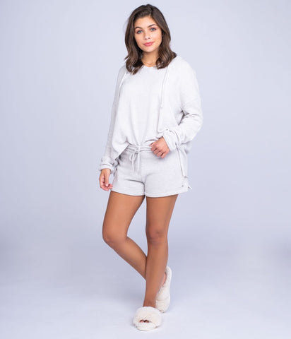 Southern Shirt -  Ultra Plush Lounge Shorts - Stone