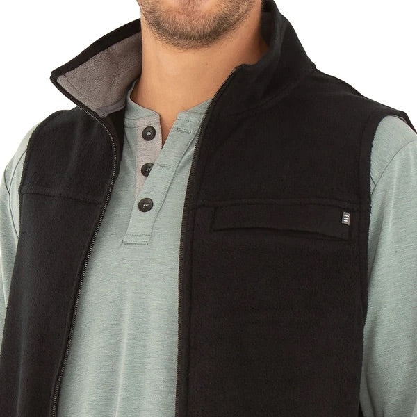 Free Fly - Bamboo Polar Fleece Vest - Black