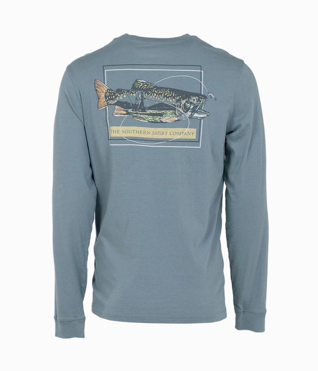 Southern Shirt - Off The Hook LS Tee - Citadel