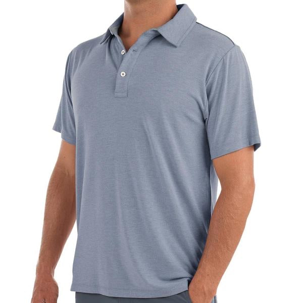 Free Fly - Bamboo Flex Polo - Heather Denim