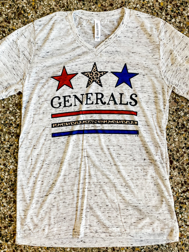 Hustle & Heart - Generals V Neck Tee