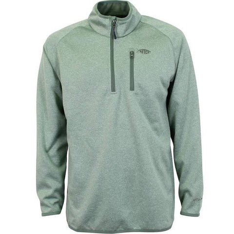 Aftco Vista 1/4 Zip - Olive Heather