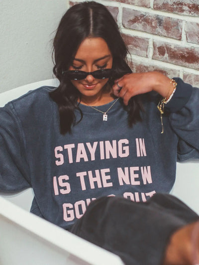 Friday + Saturday Corded Sweatshirt - Staying In