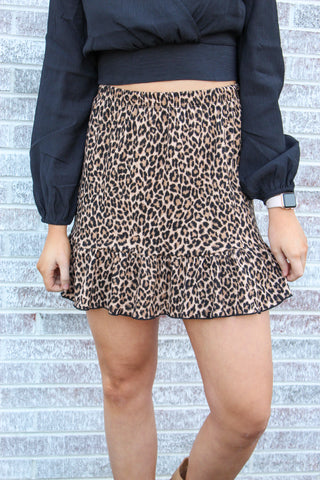 Getting Wild Ruffle Knit Skirt