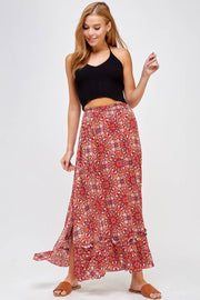 Kaleidoscope Slit Maxi Skirt