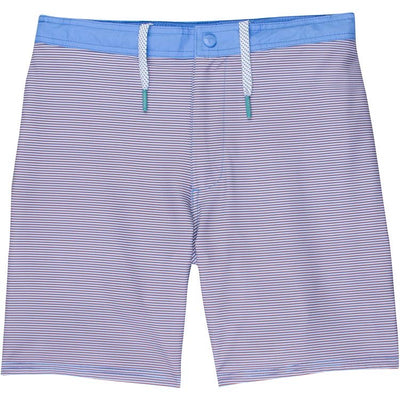 GenTeal - Stripe Swim Trunk - Red