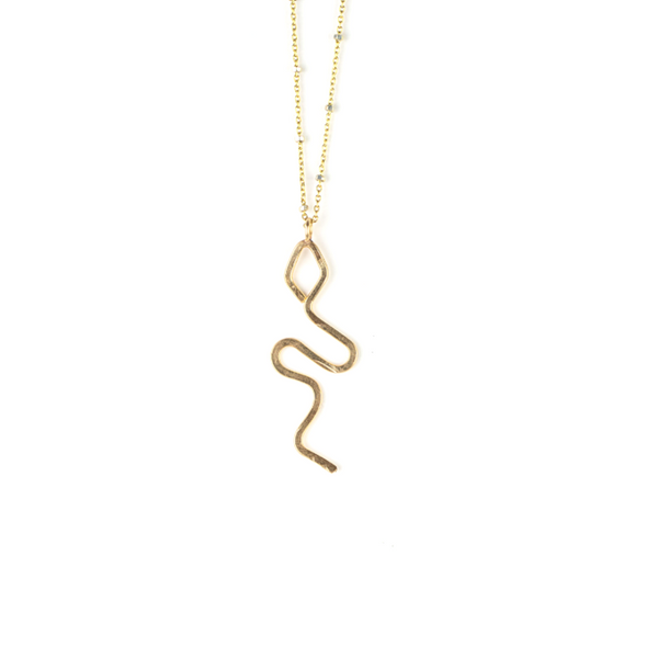 Max Snake Necklace 14k Gold