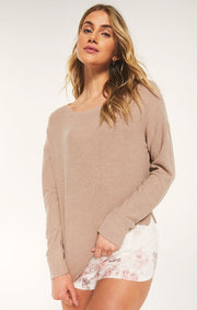 Z Supply Leila Rib Long Sleeve - Cocoa