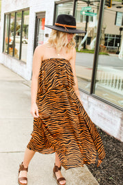 Downtown Nights Zebra Dress