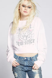 Recycled Karma - Go Get'Em Tiger Cropped Graphic Sweatshirt