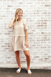 Have To Be There Pleated Tunic Dress