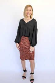 Got Secrets Midi Skirt