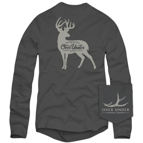Over Under - Whitetail Silhouette LS Tee - Charcoal