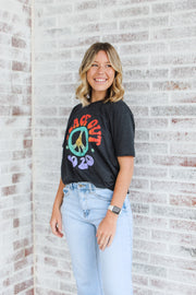 Peace Out 2020 T-shirt - Charcoal