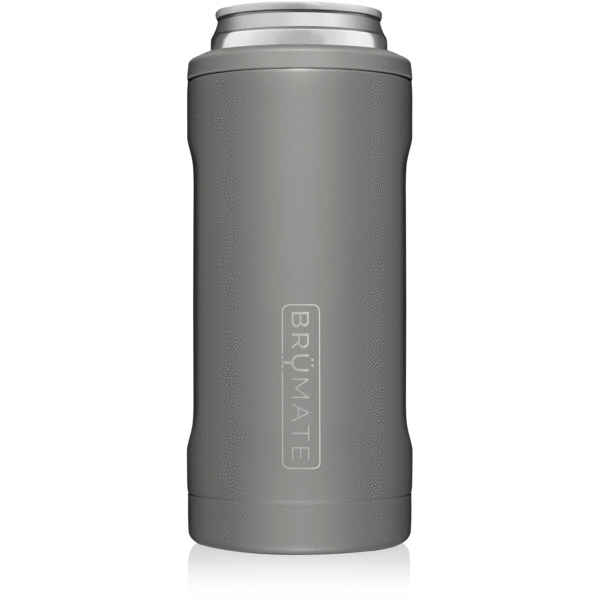 BruMate - HOPSULATOR SLIM | Matte Gray (12OZ SLIM CANS)