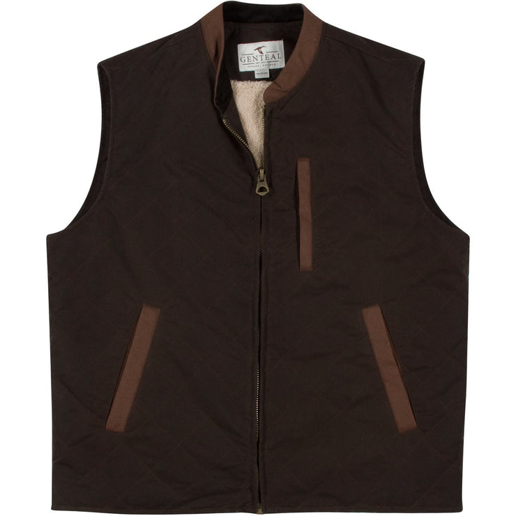 GenTeal - Waxed Cotton Vest- Buck