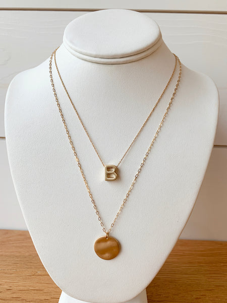 Lennon Initial Necklace