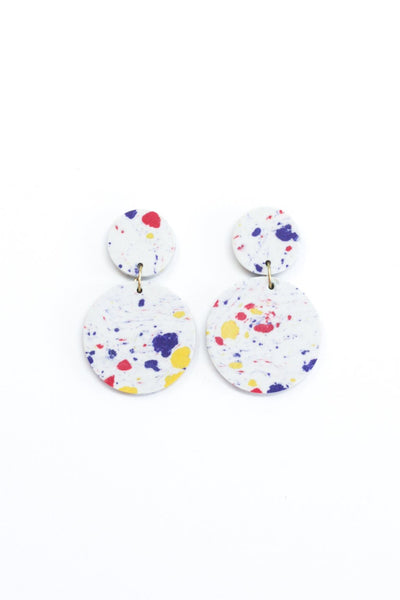 Rover & Kin Confetti Clay Earrings - White