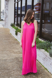 For The Good Pleated Maxi Dress