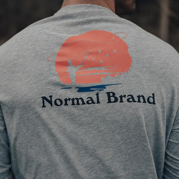 The Normal Brand - Fly Fishing LS Tee - Grey