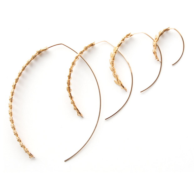 Soleil Wishbone Hoop - Gold Medium