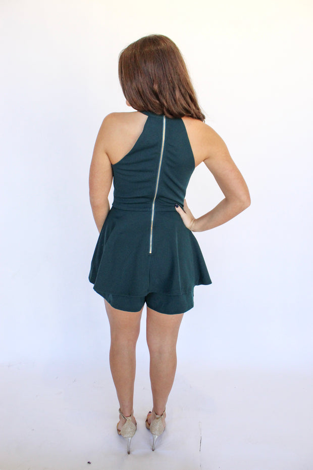 Tough Girl Layered Bottom Romper
