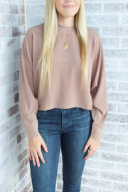 Feel The Love Crew Neck Boxy Knit Top