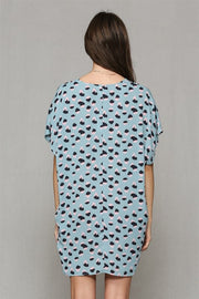 Just Float On Leopard Tunic Dress