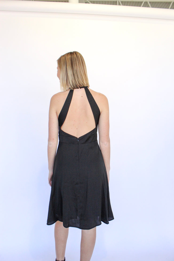 Law Of Attraction Open Back Halter Dress