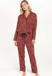 Z Supply - Dream State Heart PJ Set - Rosy Red