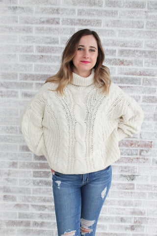 Everyday With You Chunky Turtleneck Sweater