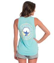 Southern Shirt - Tribal Print Katy Tank - Blue Radiance