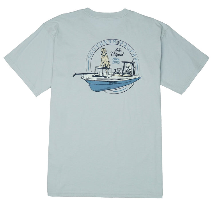 Southern Proper - First Mate SS Tee - Grey Dawn