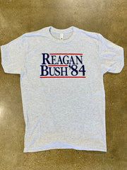 Reagan Bush 84' T-shirt - Heather Grey