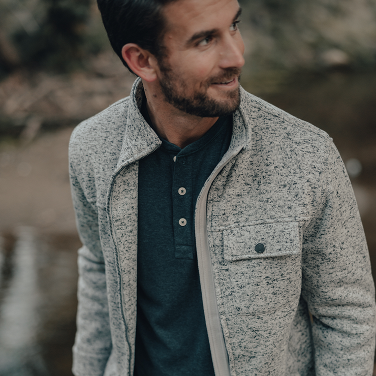 The Normal Brand - Lincoln Fleece Jacket - Grey