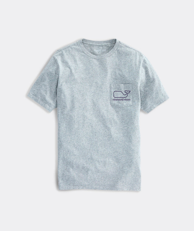 Vineyard Vines - SS Whale Pocket Tee - Grey Heather