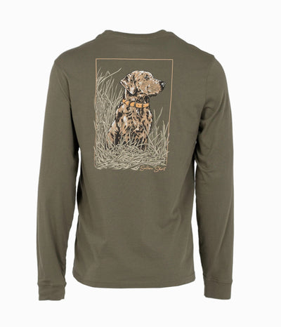 Southern Shirt - Eyes In The Field LS Tee - Spanish Moss