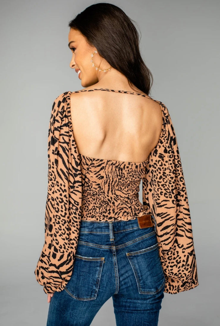 Buddy Love - Yasmine Leopard Top