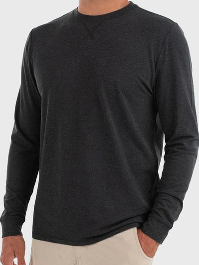 Free Fly - Bamboo Flex Long Sleeve Tee - Heather Black
