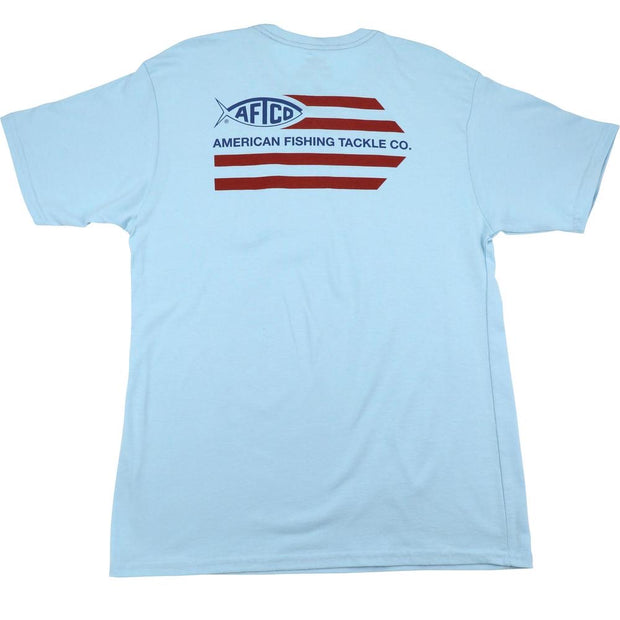 Aftco - Banner Short Sleeve Tee - Light Blue