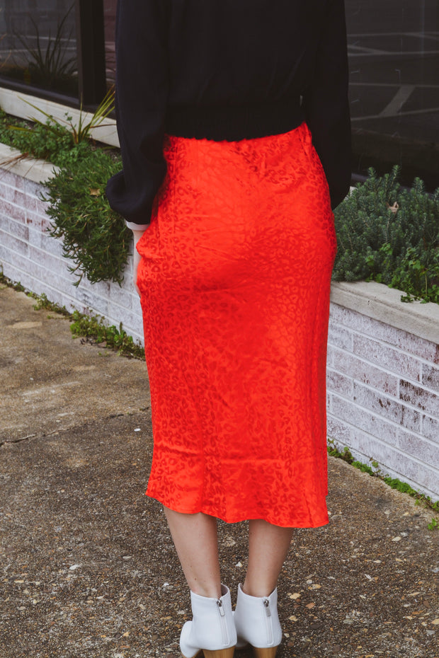 It's Perfect Timing Leopard Midi Skirt