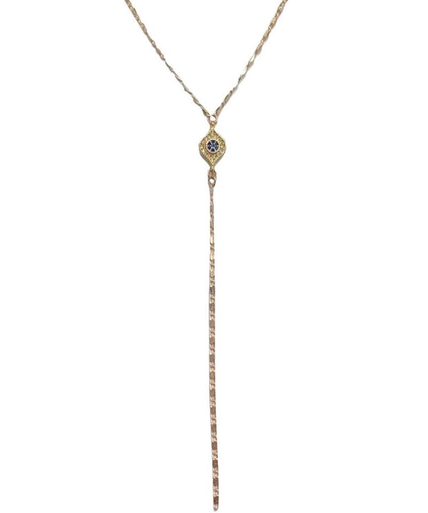 Protective Eye Lariat Necklace